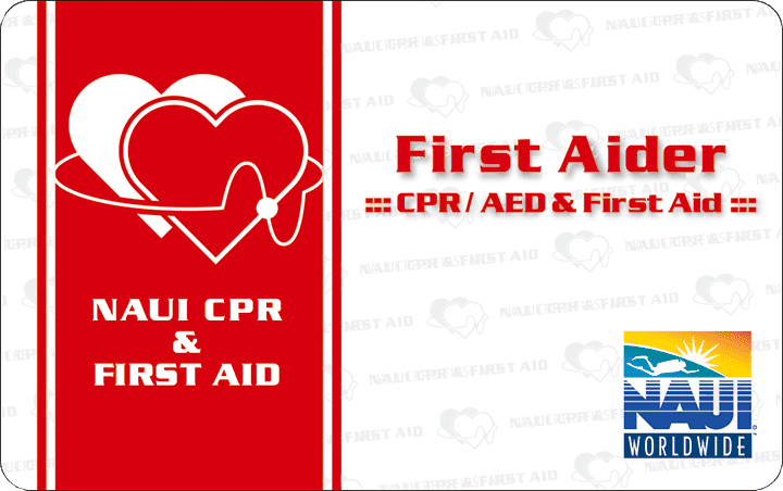 NAUI CPR&FirstAidプログラム修了証