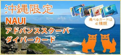 沖縄限定NAUIアドバンススクーバダイバーカードのご案内